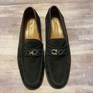 SALVATORE FERRAGAMO Brown Suede Loafer size 12